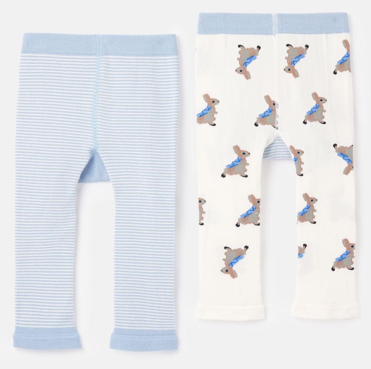 Tom Joules Peter Rabbit Lively Leggings 2-pack, Blue, 6-12 Månader