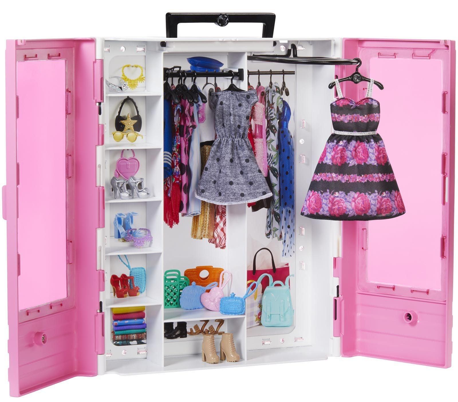 Barbie Fashionistas Nuken Vaatekaappi Asusteilla