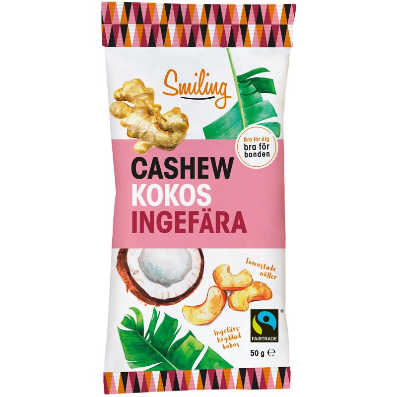 Cashewpähkinät Kookos & Inkivääri - 28% alennus