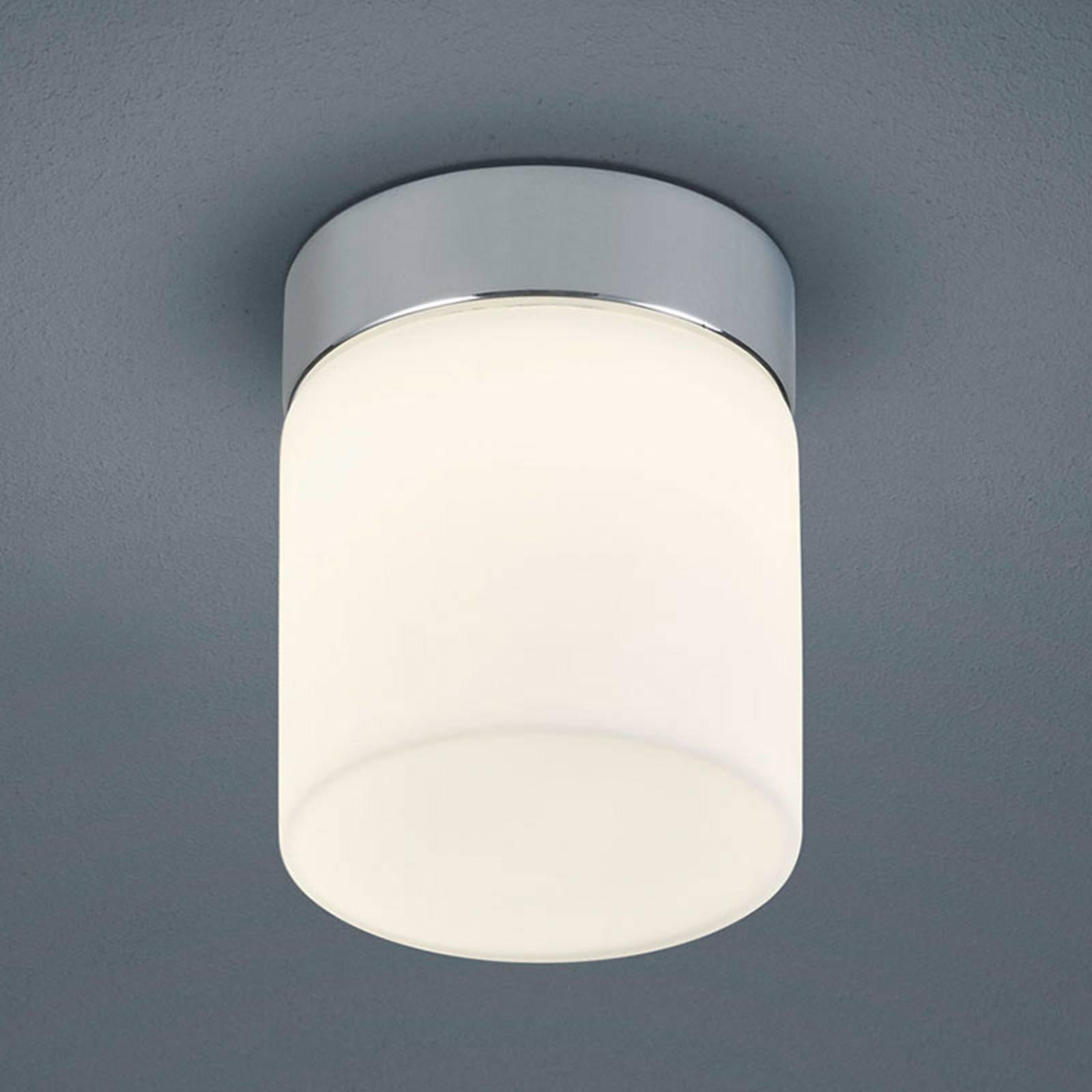 Helestra Keto – LED-taklampe til bad, sylinder