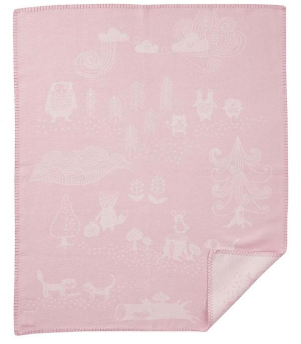 Klippan Little Bear bomullsfilt rosa, Klippan Yllefabrik
