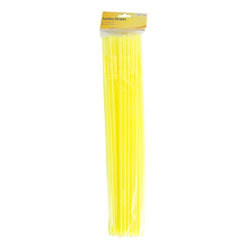 Jättesugrör Neongula - 25-pack