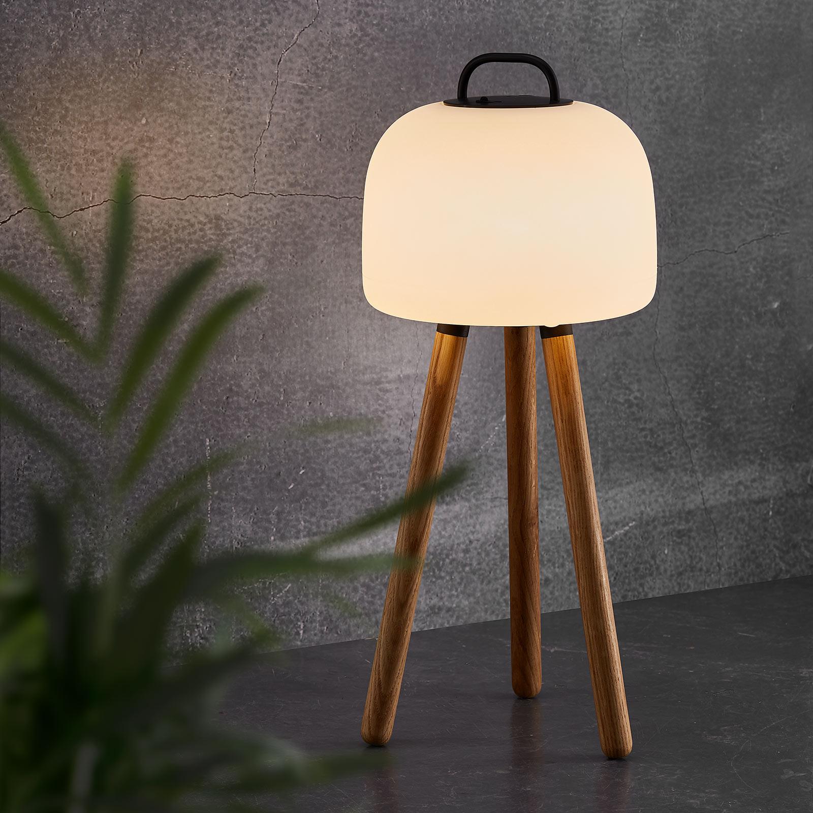 LED-pöytälamppu Kettle, kolmijalka, varjostin 22cm