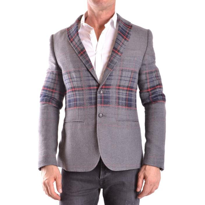 Daniele Alessandrini Men's Blazer Grey 186616 - grey 48