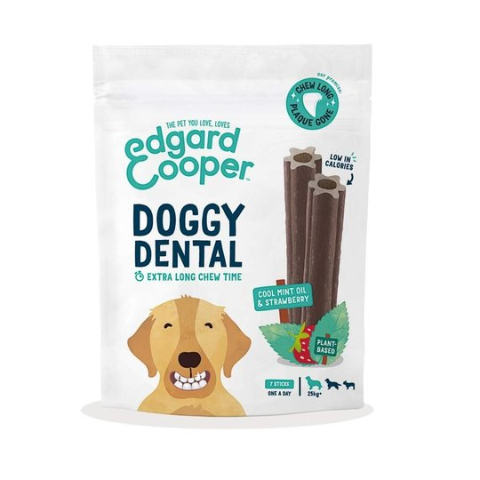 Edgard & Cooper Doggy Dental Tuggpinnar Jordgubbe & Mynta 7-pack (L)
