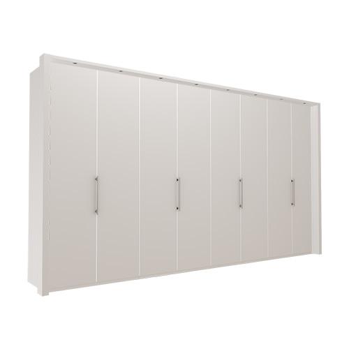 Garderobe Atlanta - Hvit 400 cm, 216 cm, Med ramme