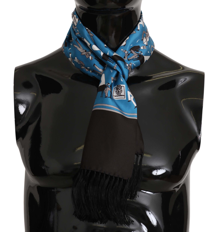 Dolce & Gabbana Men's Scarf Blue MS5128