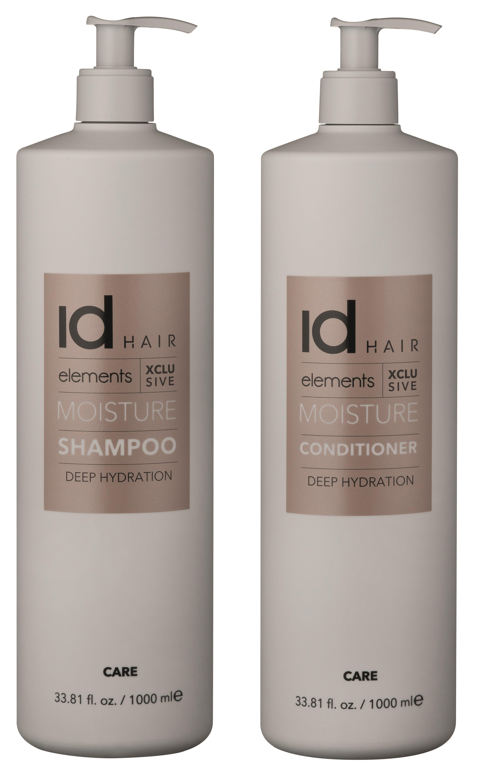 IdHAIR - Elements Xclusive Moisture Shampoo 1000 ml + Conditioner 1000 ml