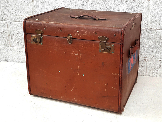Large Square Storage Trunk Brown