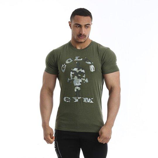 Golds Gym Camo Joe Printed T-shirt, Army Marl