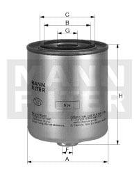 Polttoainesuodatin MANN-FILTER WK 9048 x