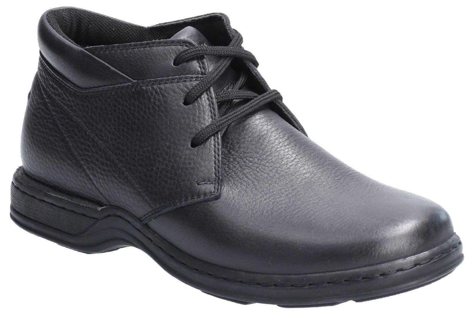 Hush Puppies Men's Reggie Lace Up Shoe Various Colours 29171 - Black 6