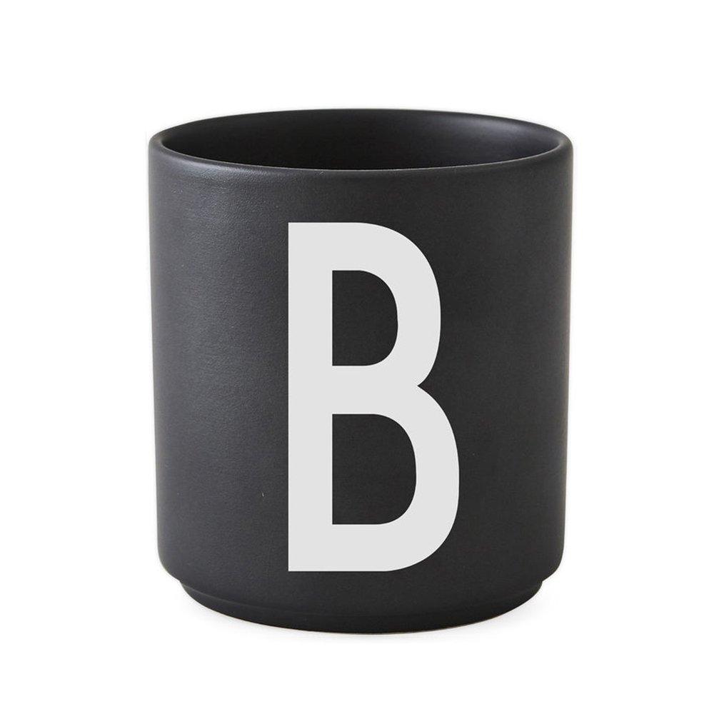 Design Letters - Personal Porcelain Cup B - Black
