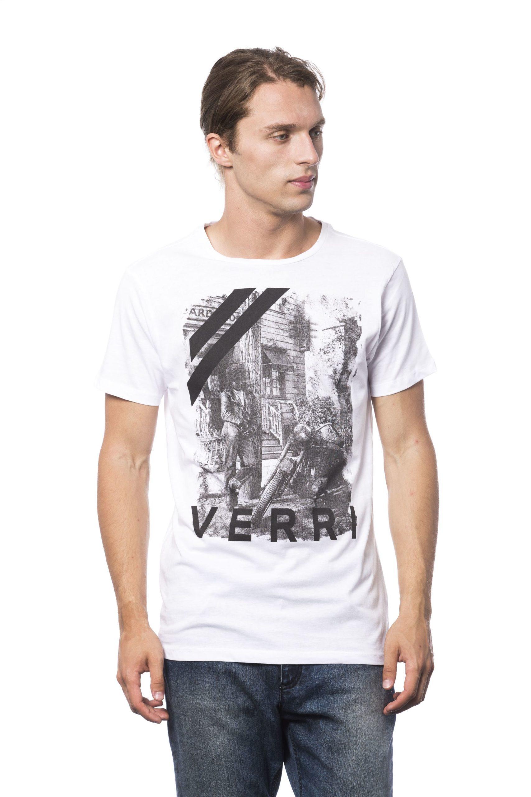 Verri Men's Bianco T-Shirt White VE686065 - S