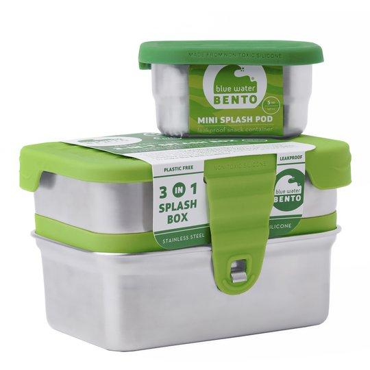 ECOlunchbox - Eco Splash Matlåda 3 delar Grön