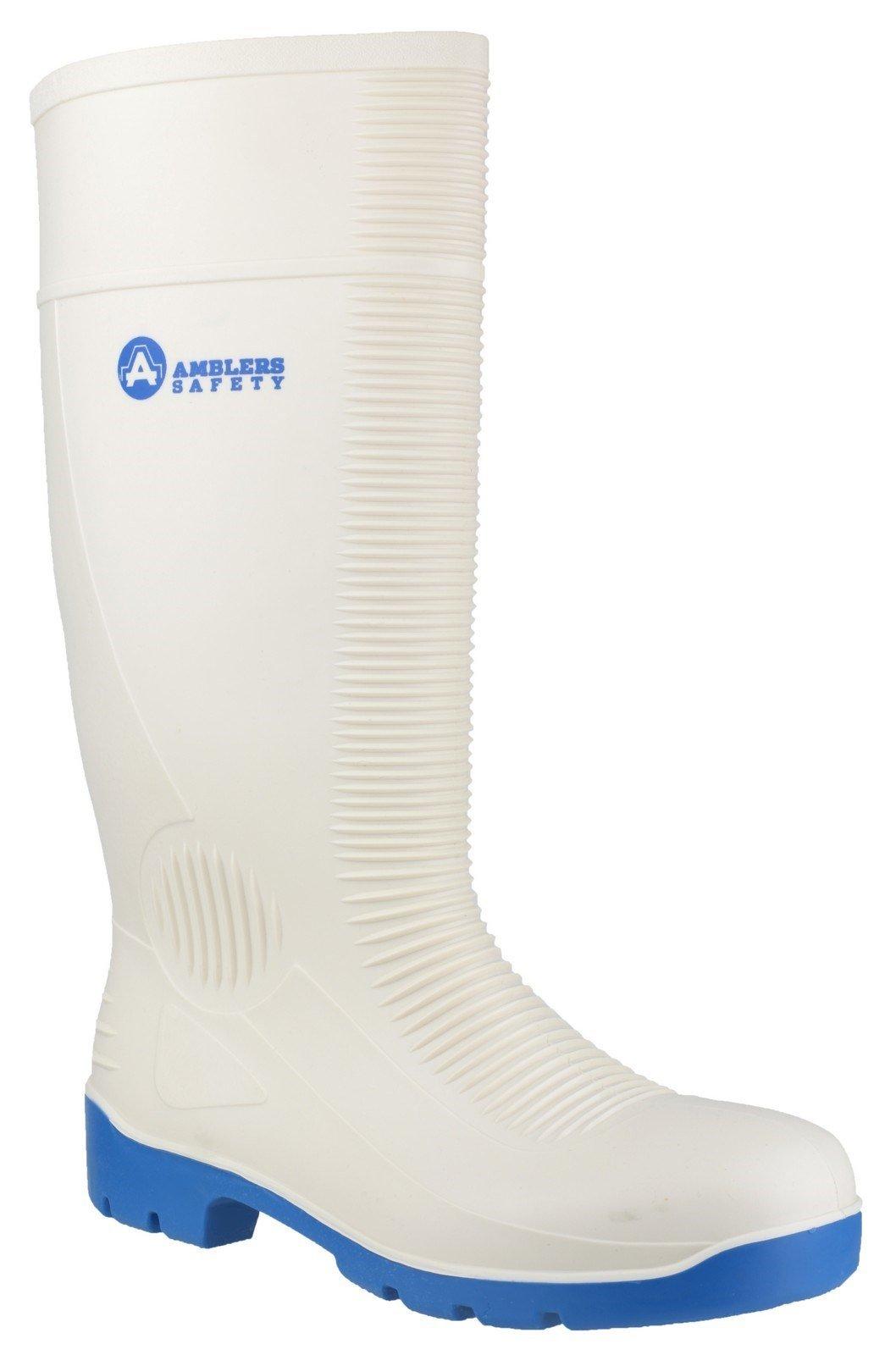 Amblers Unisex Safety Steel Toe Food Wellington Boot White 21232 - White 4