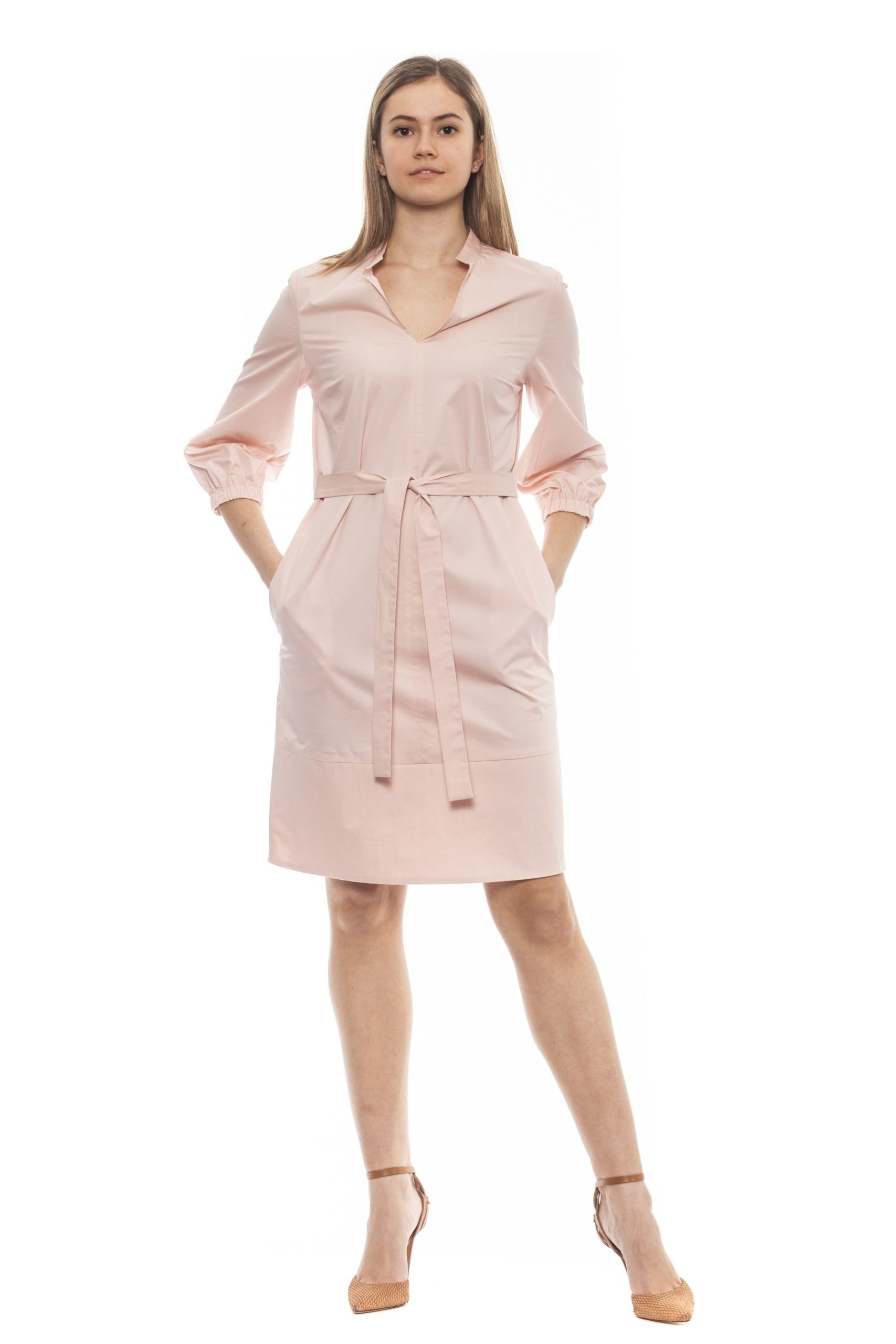 Peserico Women's Rosa Dress Pink PE1381701 - IT42 | S