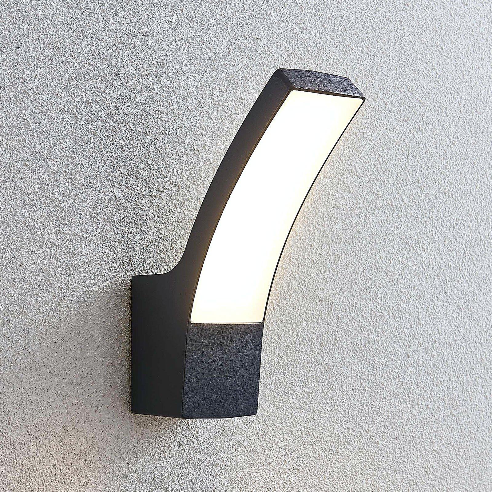Utendørs LED-vegglampe Ilvita, antrasitt