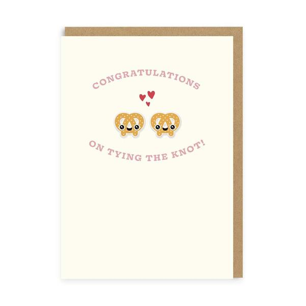 Pretzels Tying The Knot Woven Patch Card
