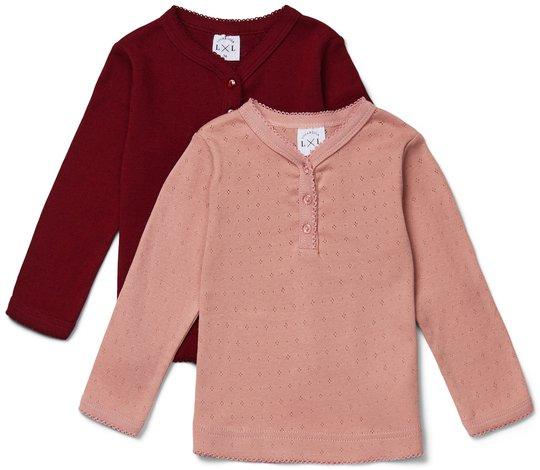Luca & Lola Siena Langermet T-Skjorte 2-pack, Pink 56