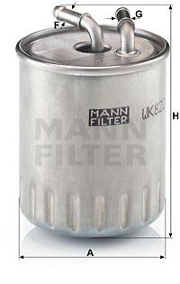 Polttoainesuodatin MANN-FILTER WK 822/3