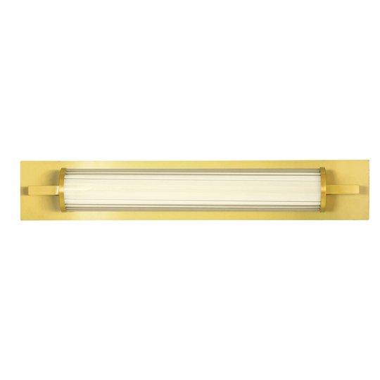 LED-vegglampe Frida, glass, hvit/gull, rørformet