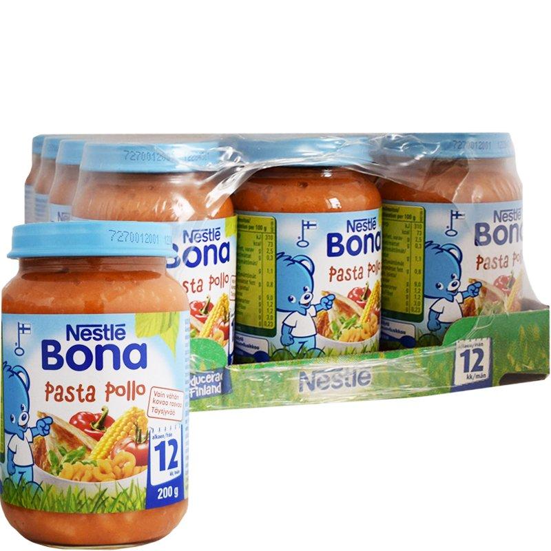 Laatikollinen Lastenruokaa Pasta Pollo 12 x 200g - 38% alennus