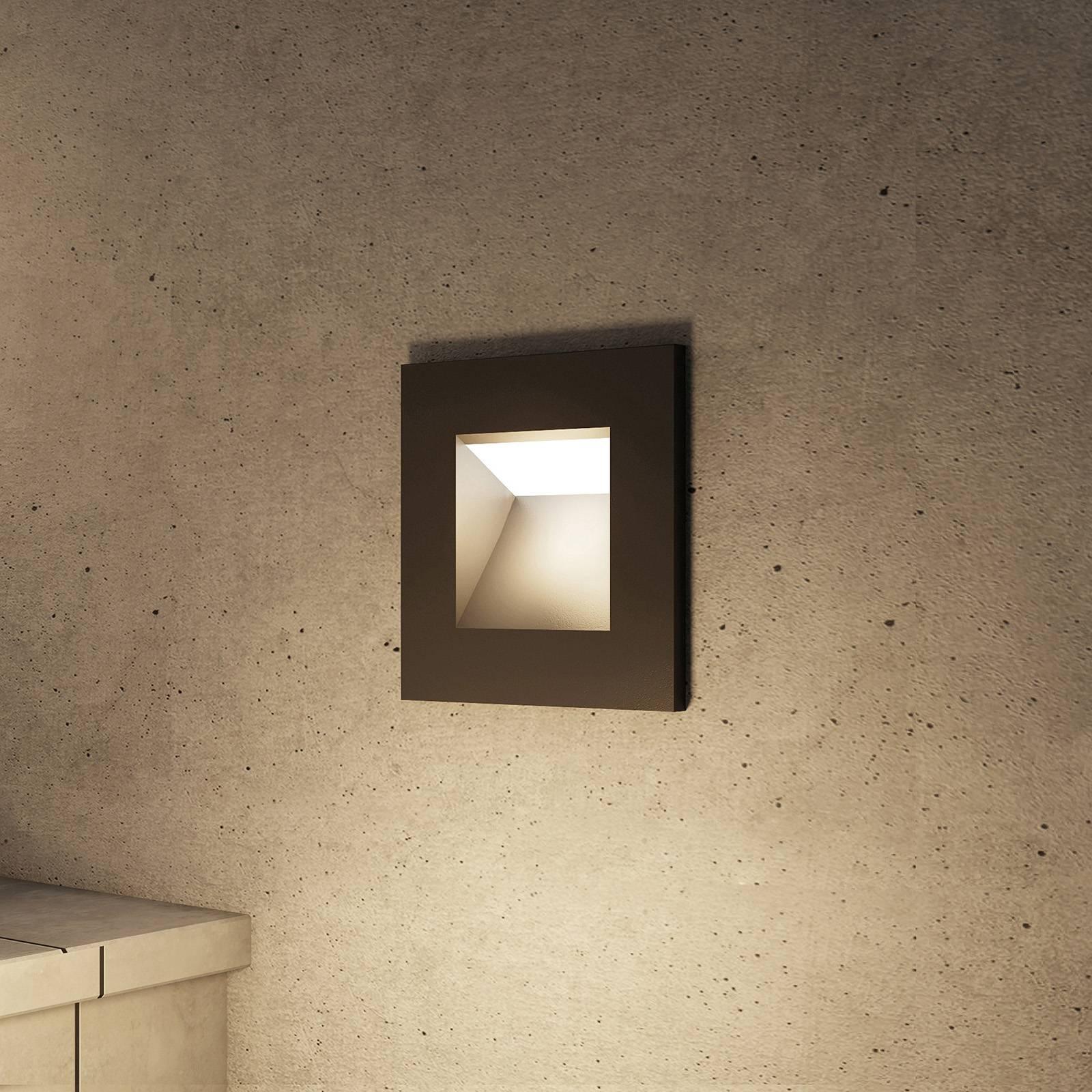 Arcchio Zamo -LED-uppovalaisin, musta