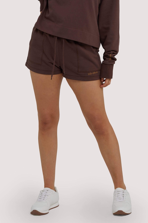 Wolf & Whistle Brown Tie Waist Shorts UK 10 / US 6