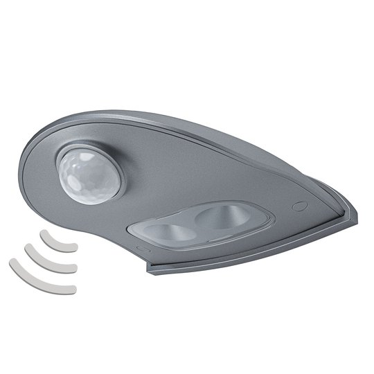 LEDVANCE Door Down LED-ulkoseinälamppu hopea