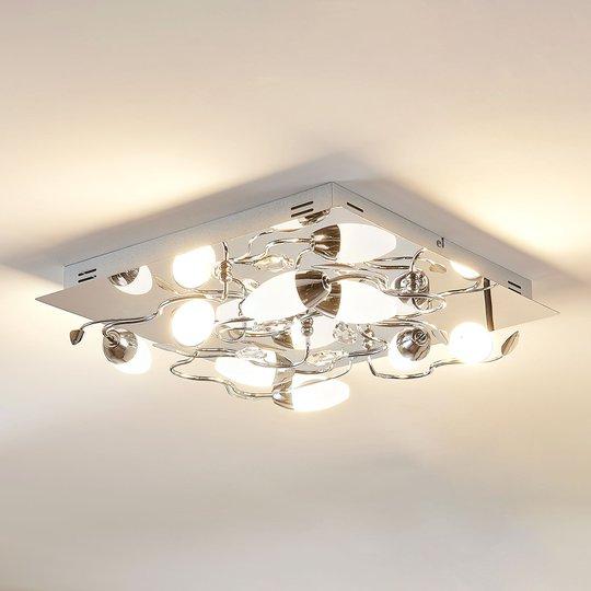 Himmennettävä LED-kattovalaisin Mischa, 8-lampp.