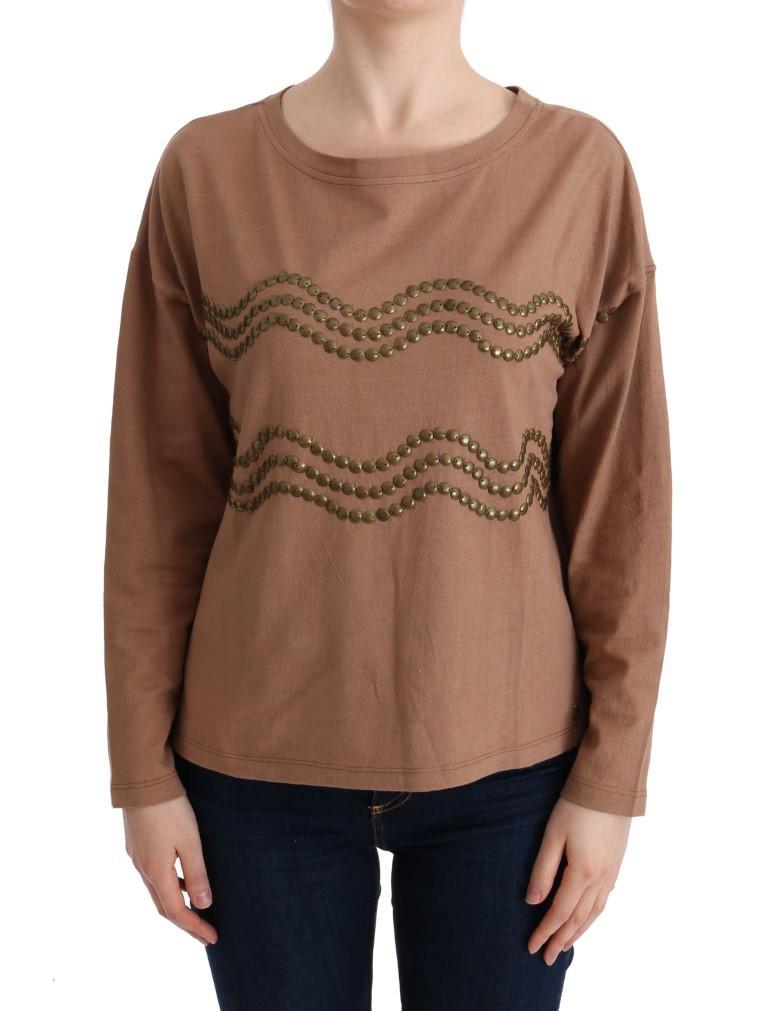 John Galliano Women's Cotton Studded Sweater Brown TUI10024 - S
