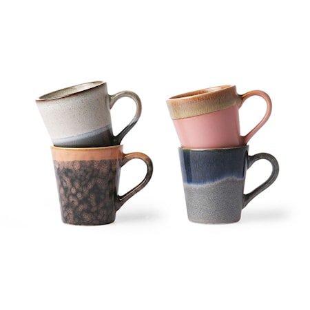 Ceramic 70's Espressokopp 4 stk