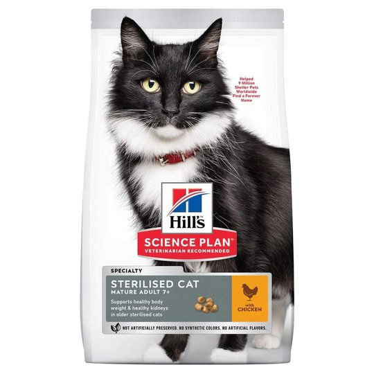 Hill's Science Plan Cat Mature Adult 7+ Sterilised Chicken (1,5 kg)