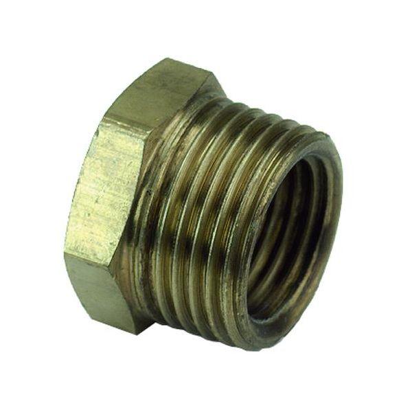 Ezze 3006074982 Metallbøssing utv- inv gjenge G8 x G6, messing