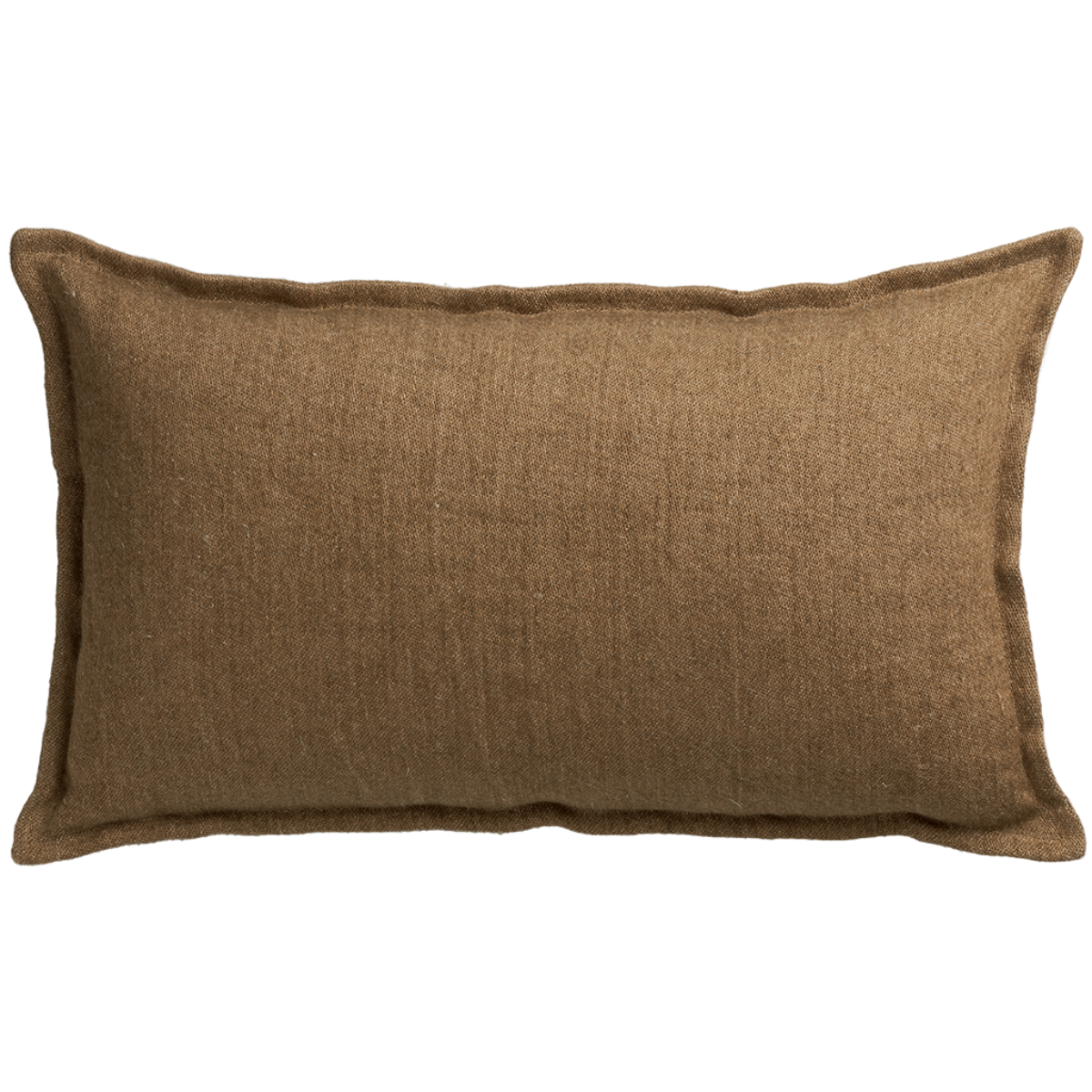de Le Cuona | Classic Linen Cushion with Self Flange Clay