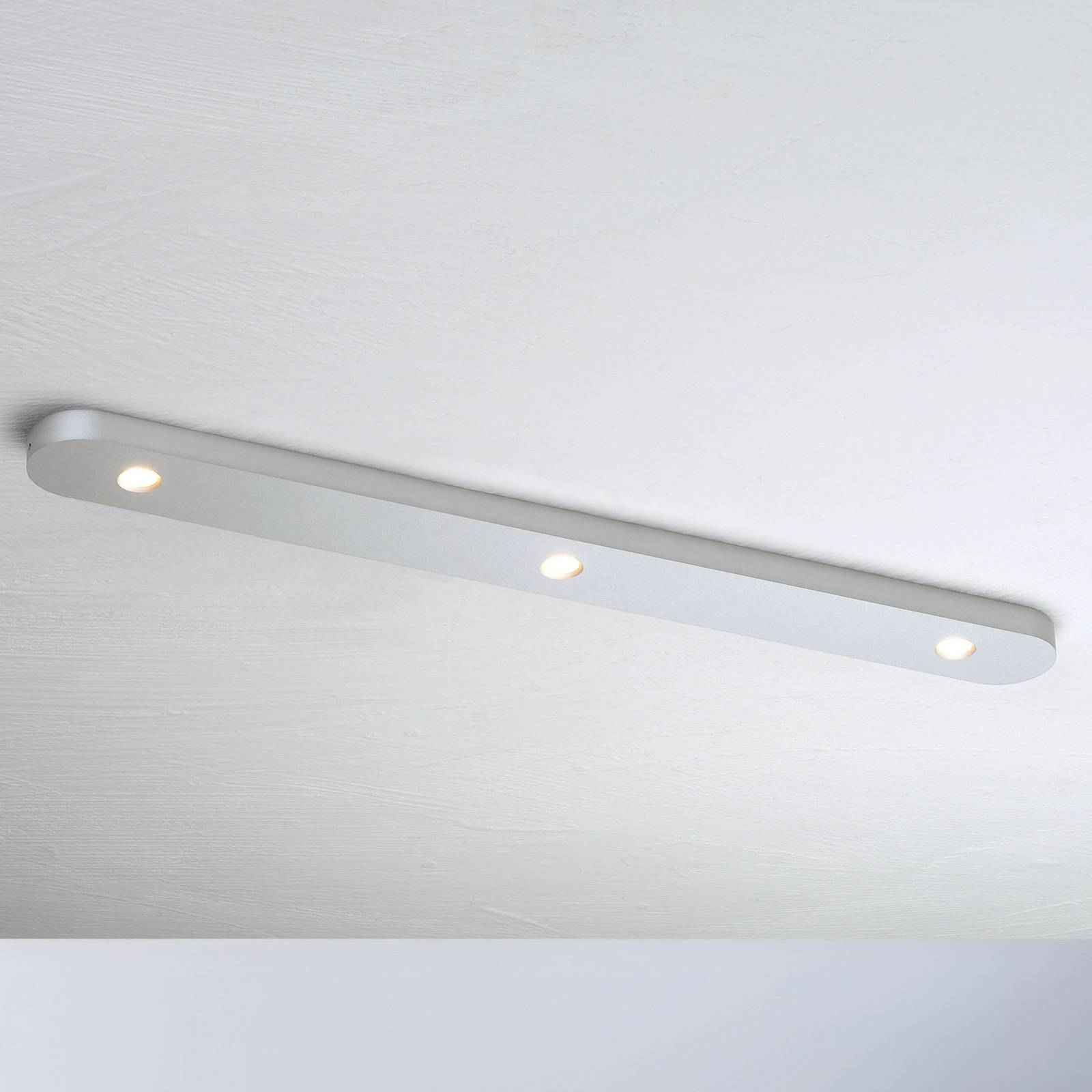 Bopp Close LED-kattovalaisin, 3-lamppuinen, alu