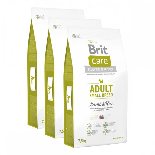 Brit Care Dog Adult Small Lamb & Rice 3x7,5 kg