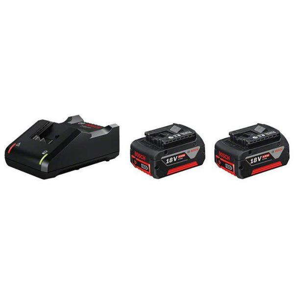Bosch GBA 18V Ladepakke 18 V, 2 x 4 Ah, med lader