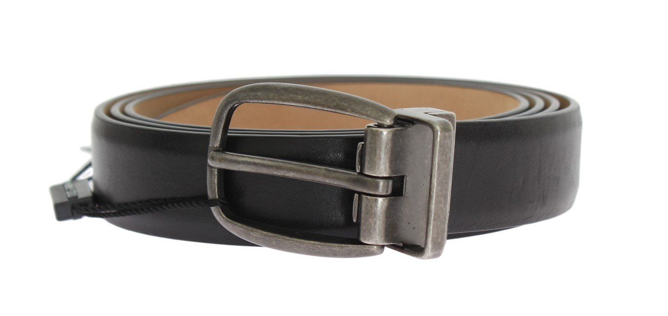 Dolce & Gabbana Men's Leather Buckle Belt Black BEL10252 - 105 cm / 42 Inches
