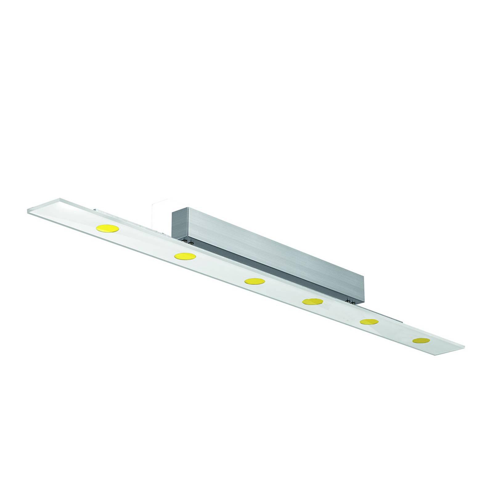 LED-taklampe Sun med ESG-glass på 140 cm