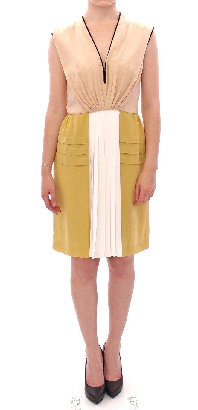 FILOS Women's Silk Sleeveless Above Knees Dress Multicolor GSS10134 - IT40|S