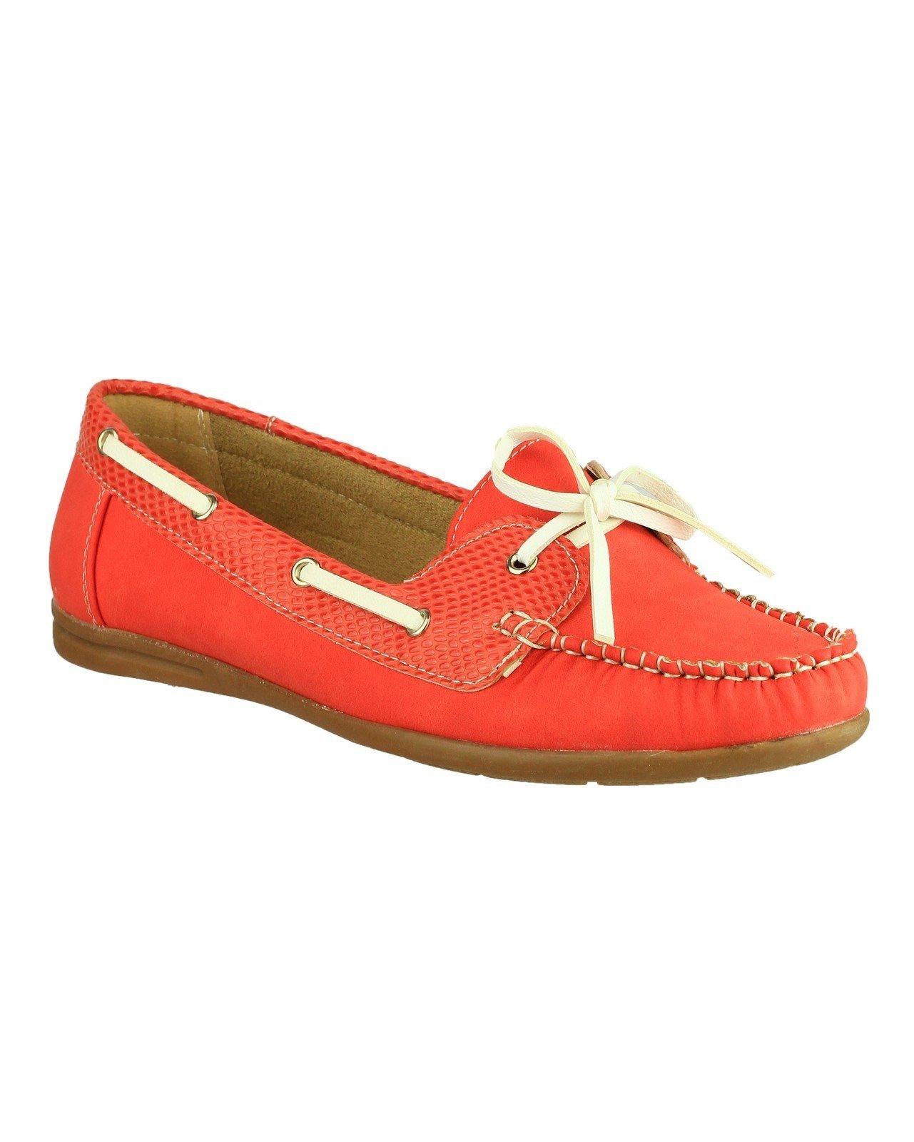 Divaz Women's Belgravia Slip on Shoe Red 19838-31017 - Red 5