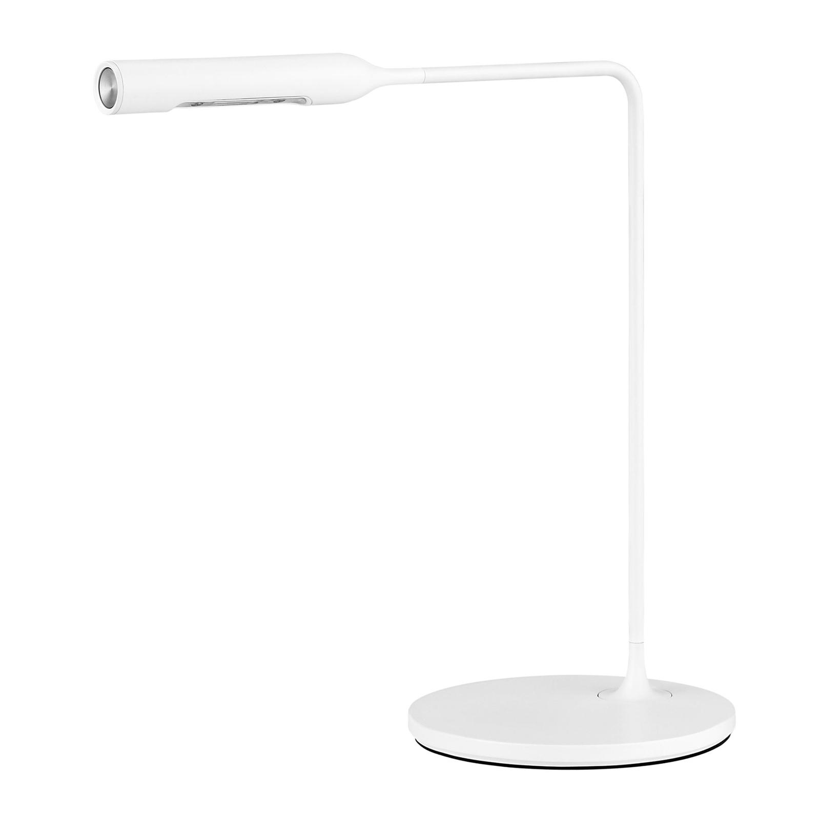 Lumina Flo Bedside -LED-pöytälamppu, valkoinen