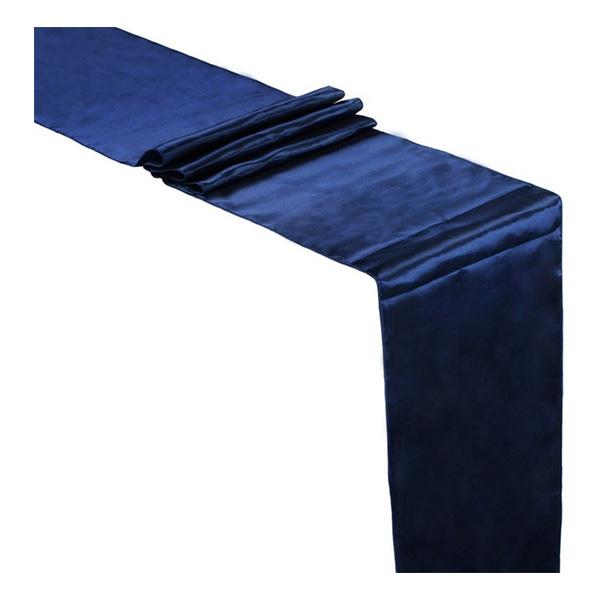 Bordslöpare Satin Mörkblå