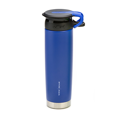 WOW - Double-Walled SS Bottle 650 ml - Blue/Black