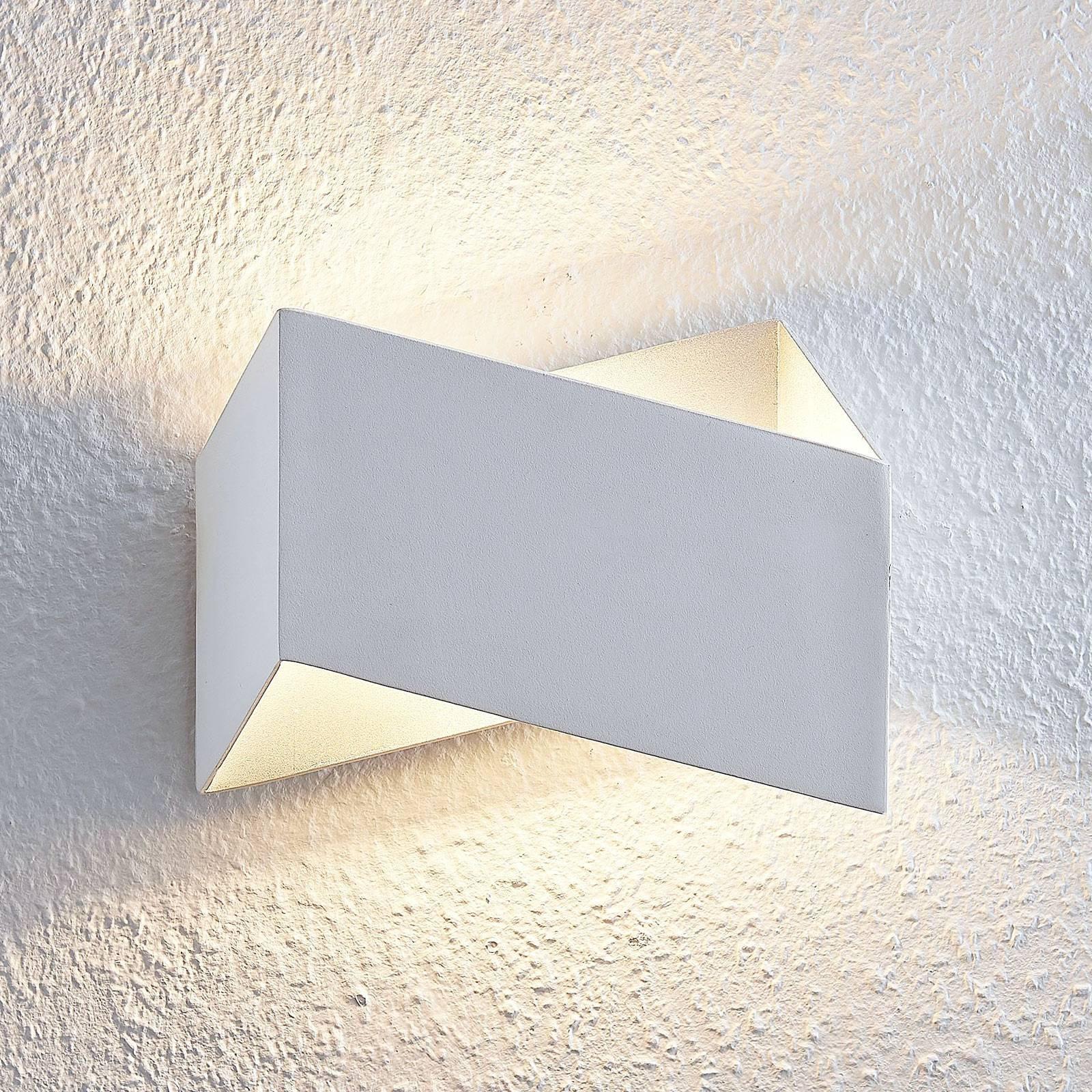 Arcchio Assona LED-vegglampe, hvit-sølv