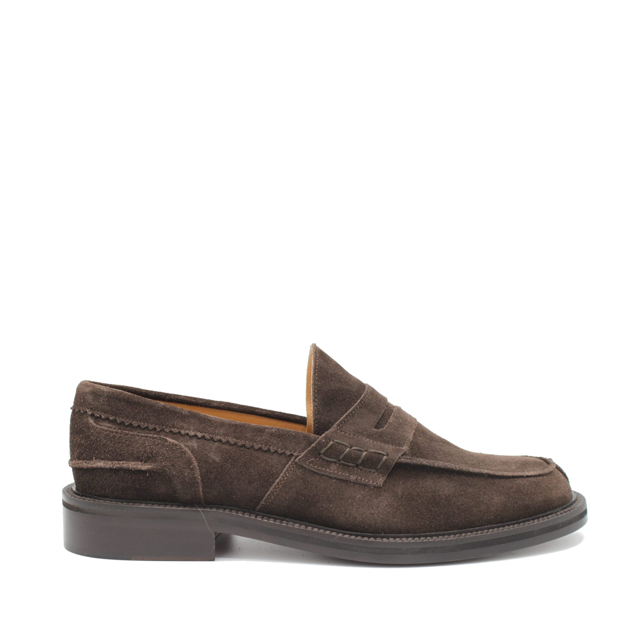 Saxone of Scotland Men's Suede Leather Loafer Brown 030_Dark - EU41.5/US8.5