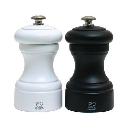 Bistro Salt- & pepperkvern hvit & svart 10 cm