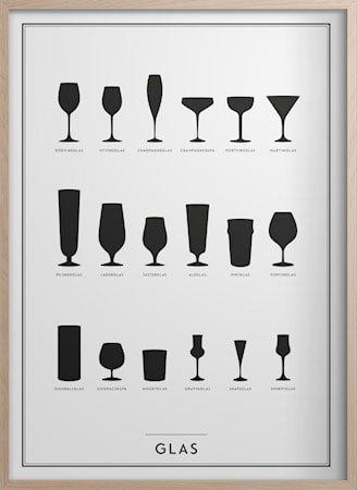 Glass Poster 30x40 cm
